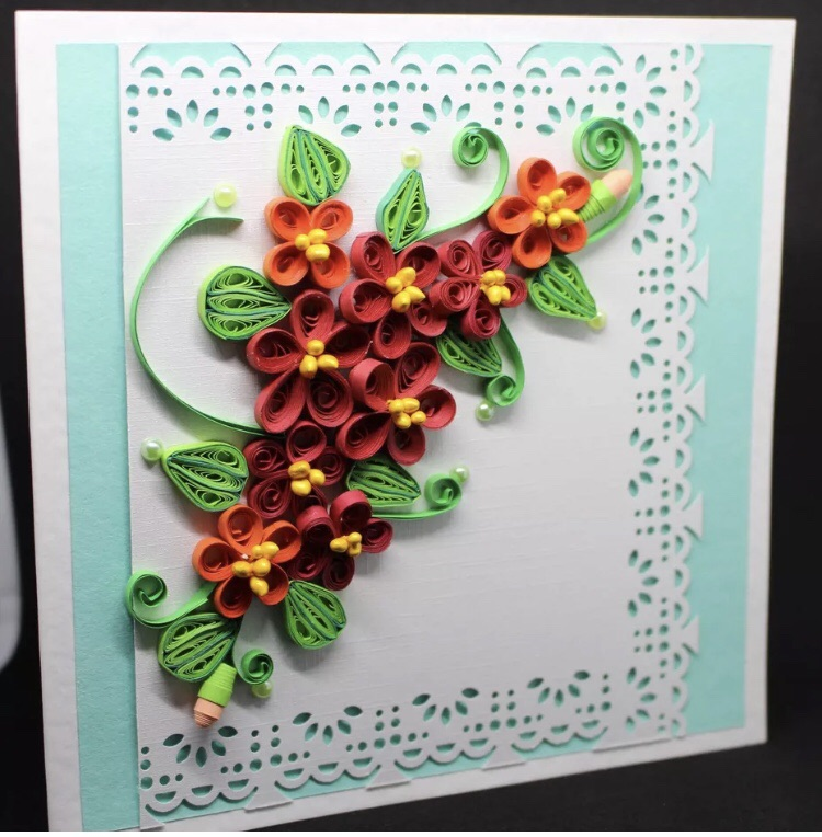 HANDMADE QUILLING CARD FOR ANY OCCASION