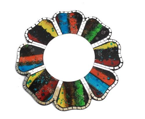 Four colours mosaic mirror- 30cm