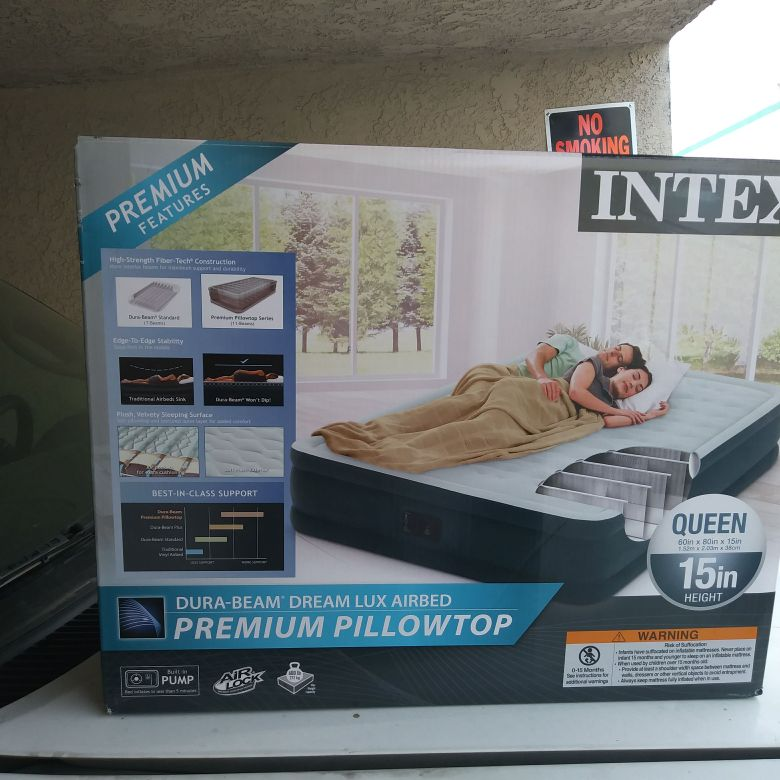 Queen intex air mattress