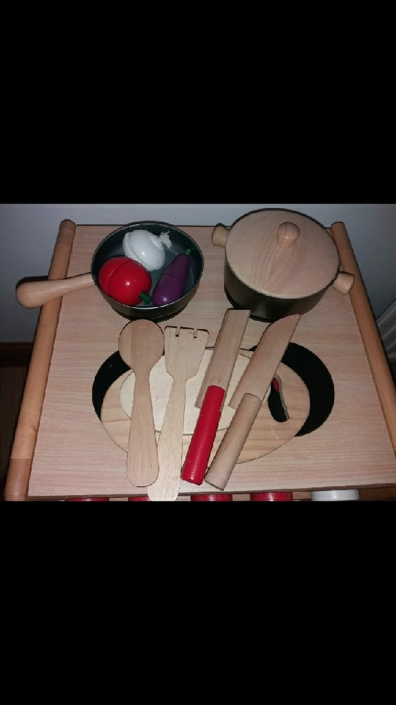 Wooden hob and cooker bundle