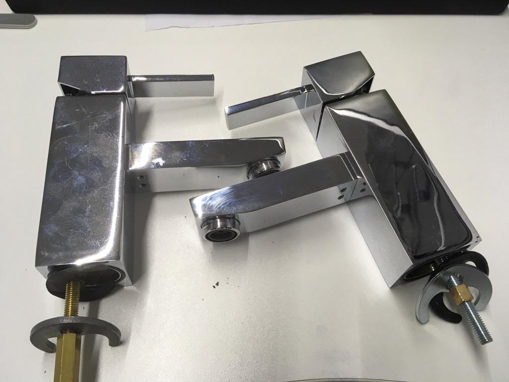 Basin mixer tap x2