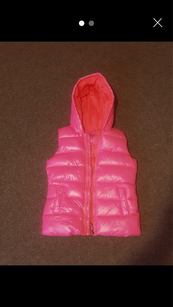 Girls sleeveless bomber jacket