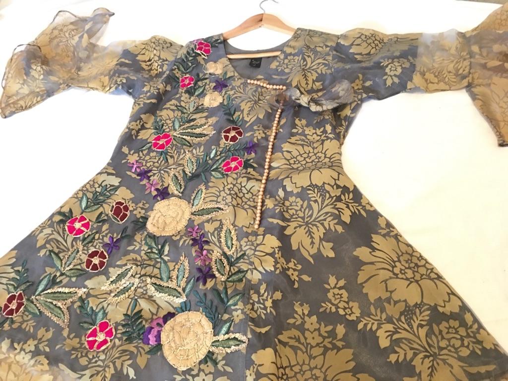 Embroidery Grey Dress ⭐️