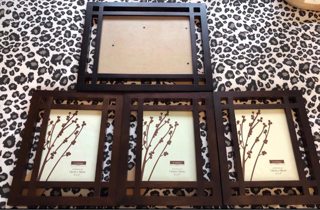 Set of 4 dark wood picture frames