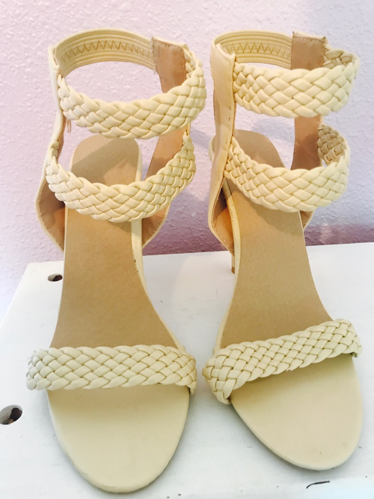 Cream color heel