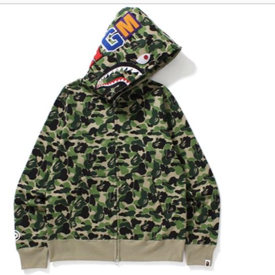 Green camo bape shark hoodie