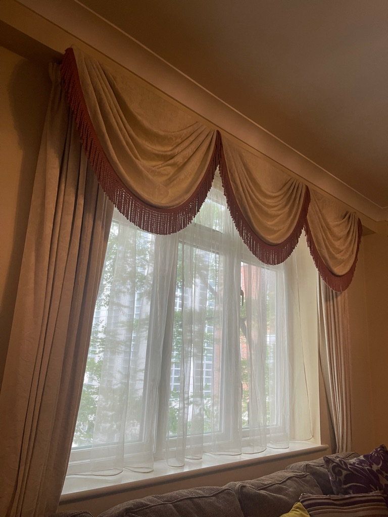 2 pairs of Cream curtains - fittings included