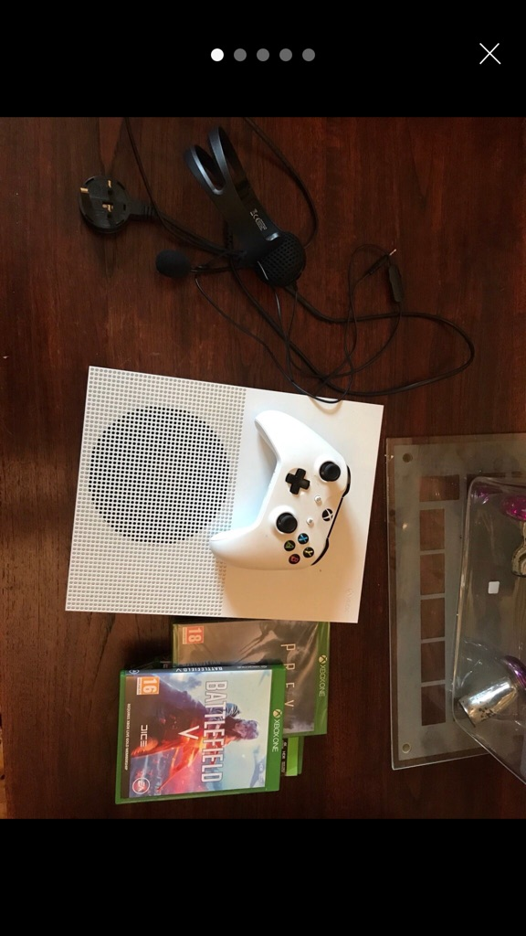 XBox with headset and games