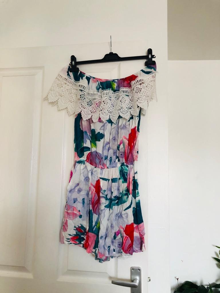 Women's floral playsuit size L