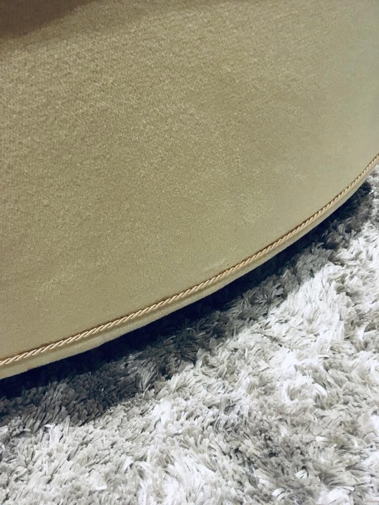 Cream/gold velvet boudoir/bedroom chair