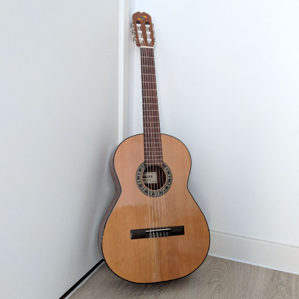 Admira Malaga 1908/2014 Solid Cedar Top Spanish Guitar with Padded Bag and New Strings Included