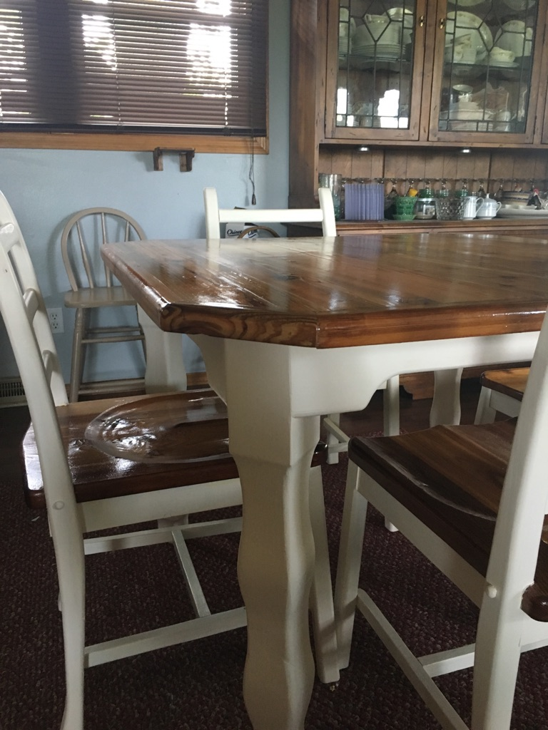 Handcrafted table and chairs for 4