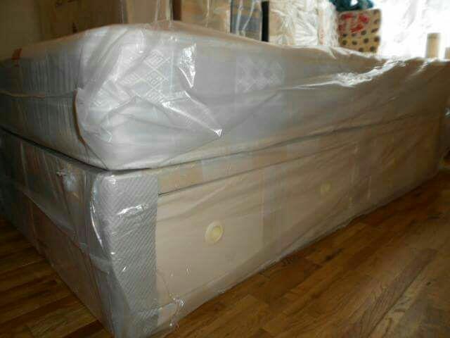 Double divan semi orthopaedic bed