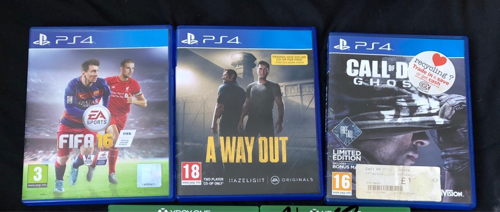 PS4 GAMES - FIFA, A WAY OUT AND COD