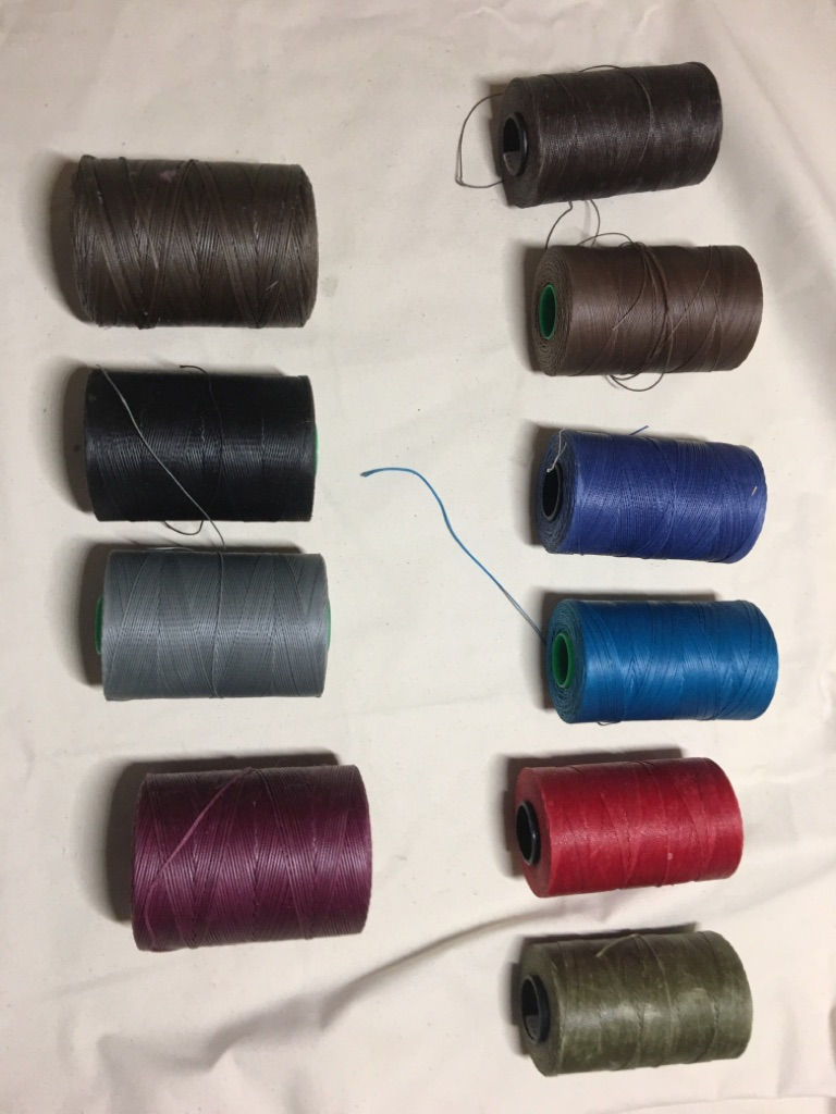 Waxed polyester thread spools lot
