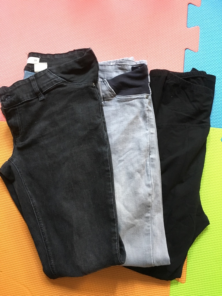 Maternity skinny jeans and legging