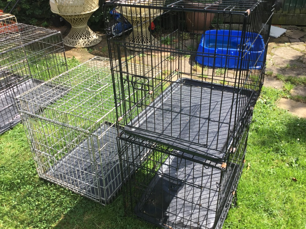 Various dog cages