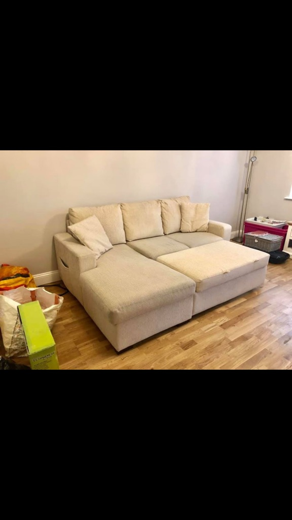 Corner sofa with bed and storage need gone ASAP