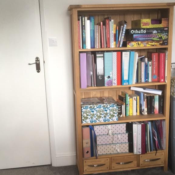 Book shelves solid oak