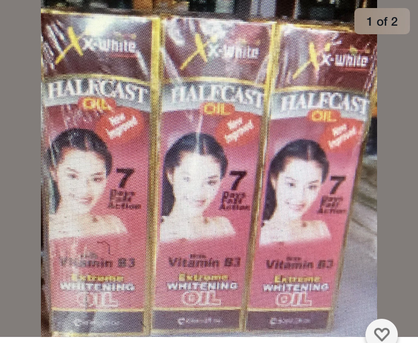 Halfcast whitening oil