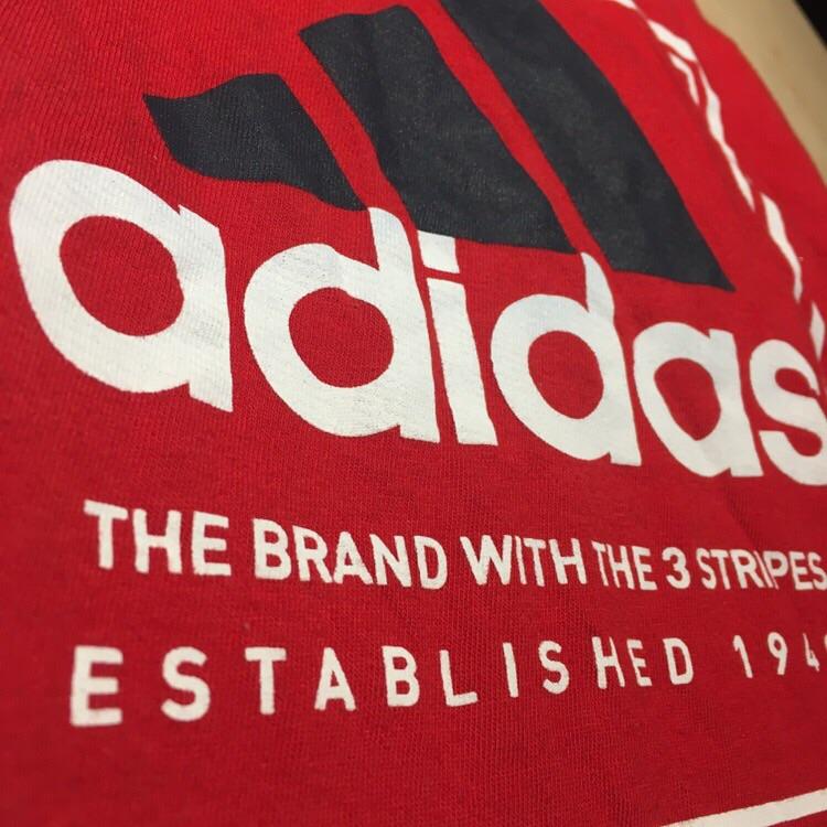 Red Unisex Adidas T-shirt