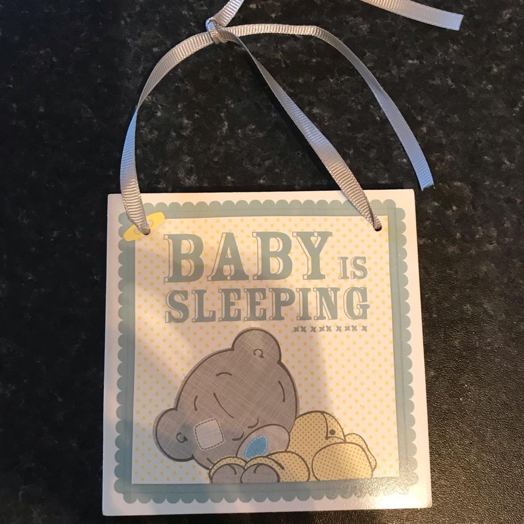 Baby door hanger / plaque