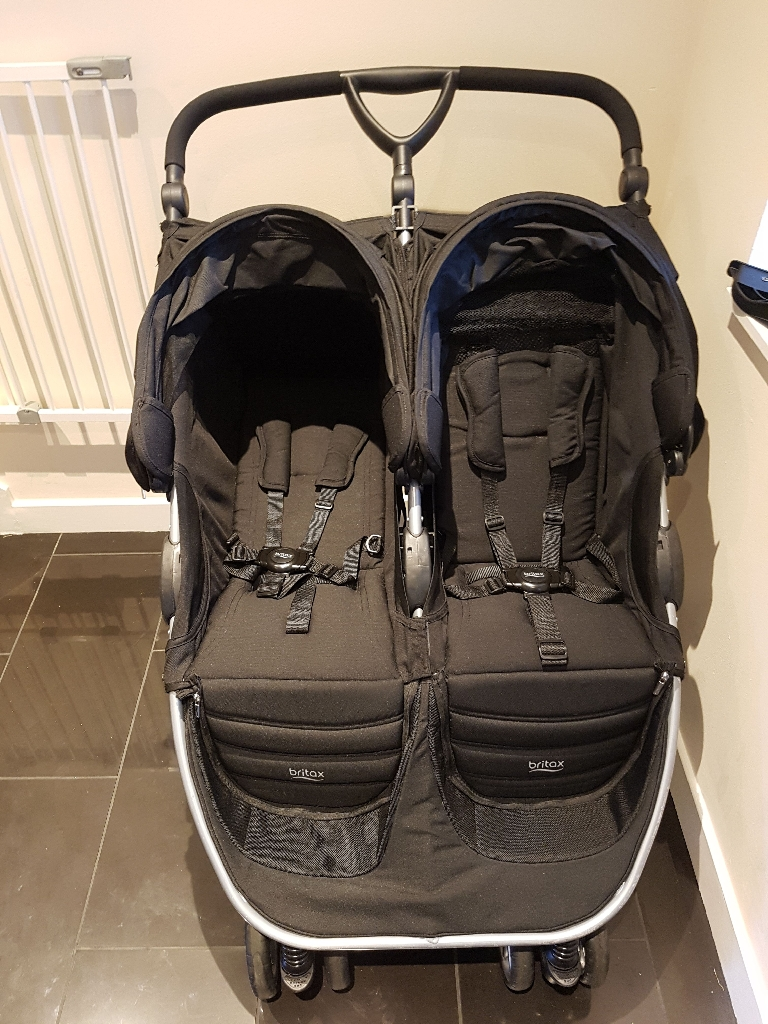 Britax B-Agile Double Buggy, Romer Car Seat and Footmuffs