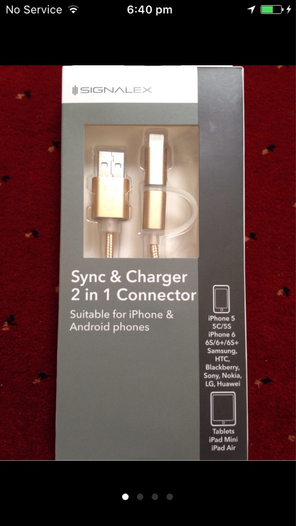 Sync & charger 2 in 1 connector.