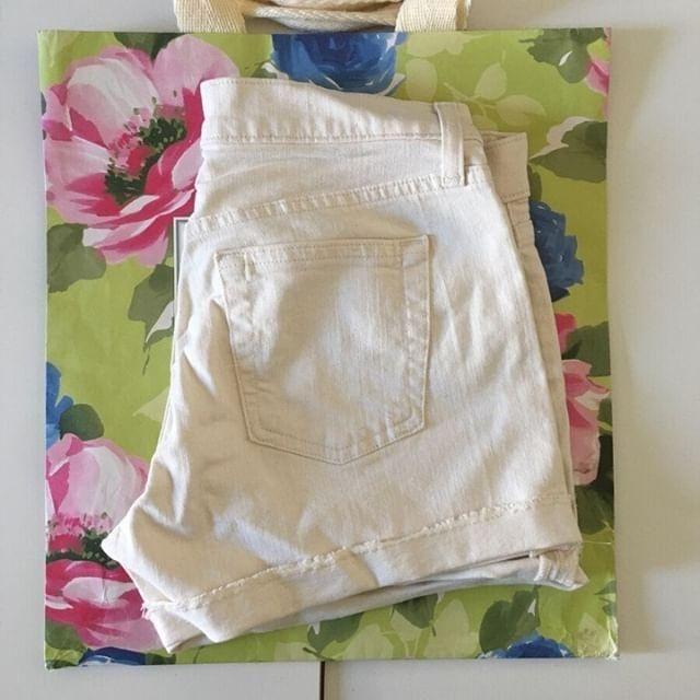 J.crew ivory shorts