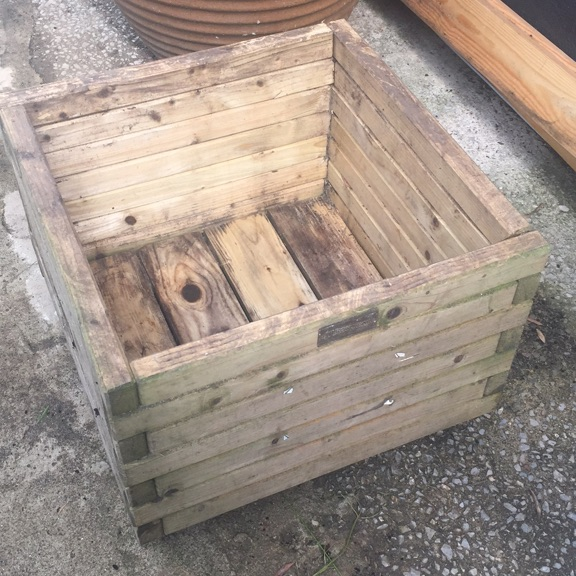 Large wooden planter