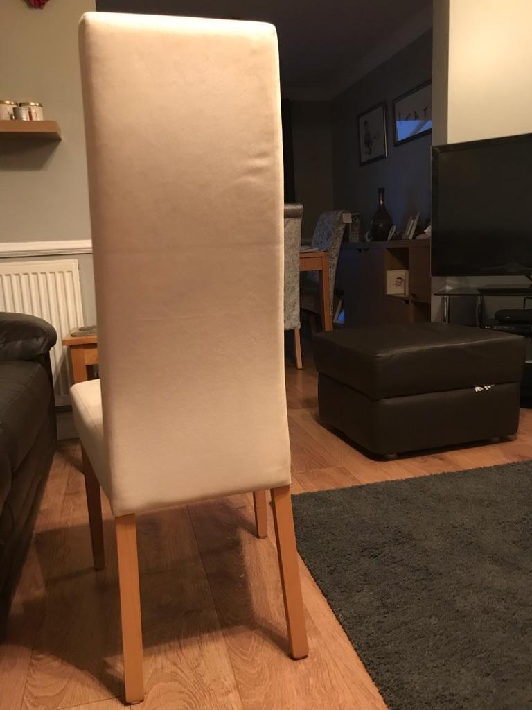 6 x cream dining chairs