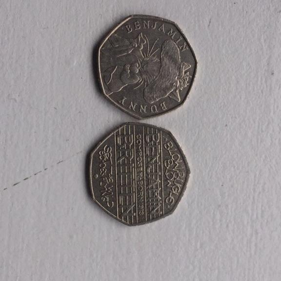 Benjamin Britten and Benjamin bunny collector coins
