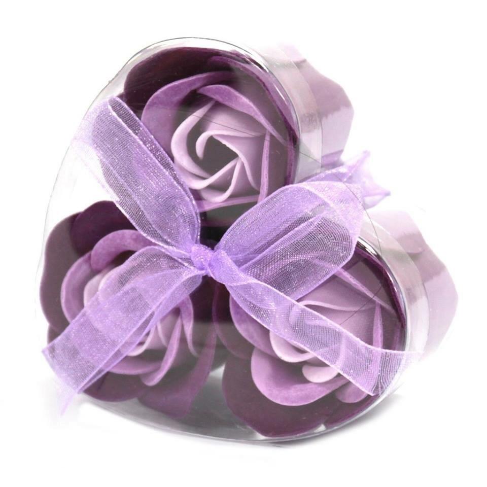 Flower Soap Heart Box