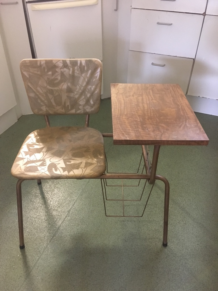 1960s telephone chair and side table