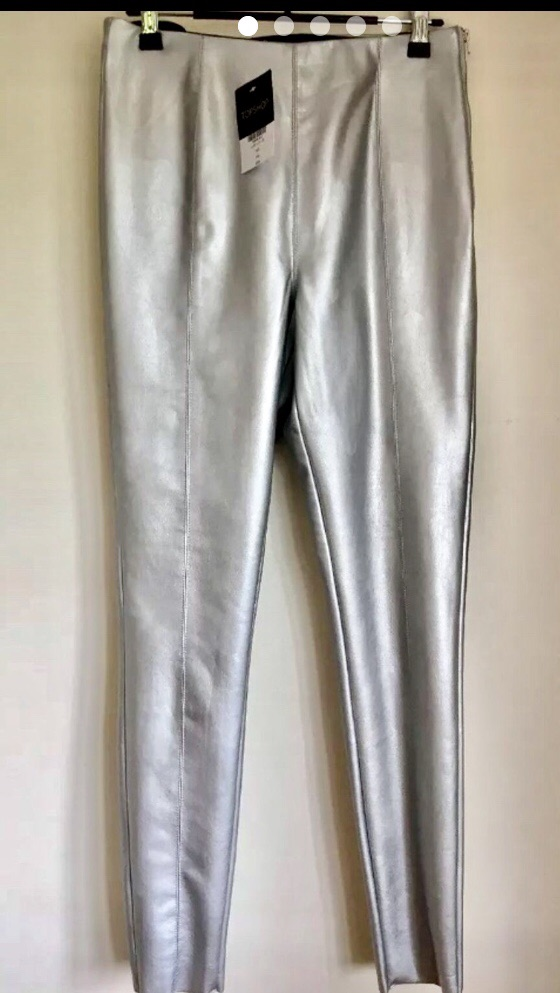 Topshop Silver Skinny Jeans new size 12