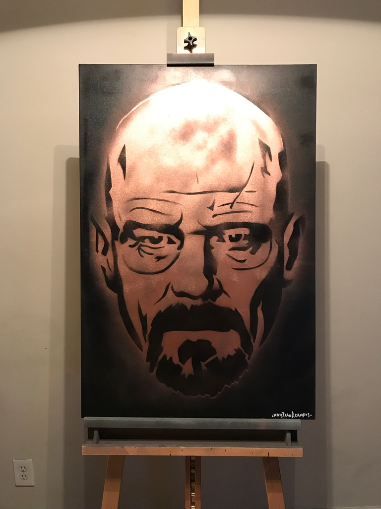 Breaking Bad 24x36 Graffiti Canvas