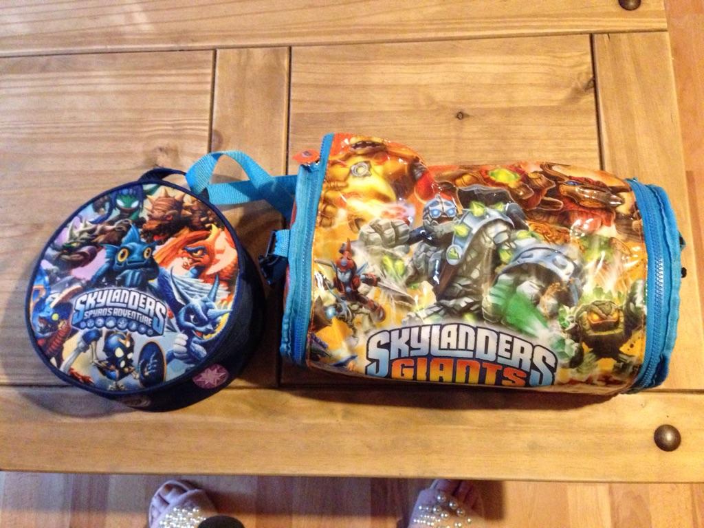 2 Full bags of Skylander Characters