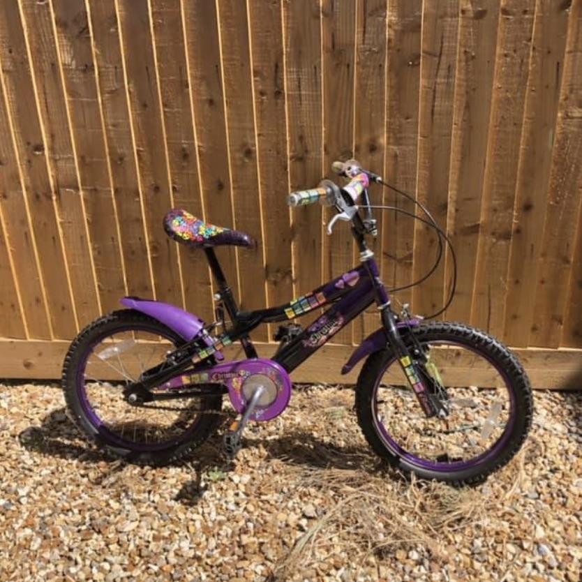"""Sparkle Christine purple bike 18"""""""