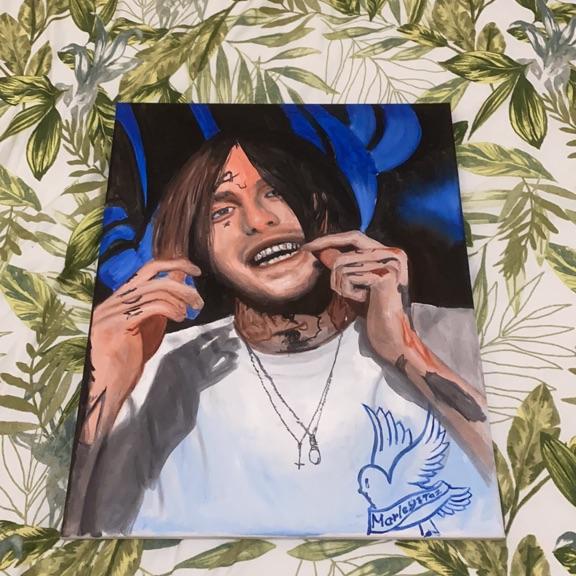 Lil Peep painting