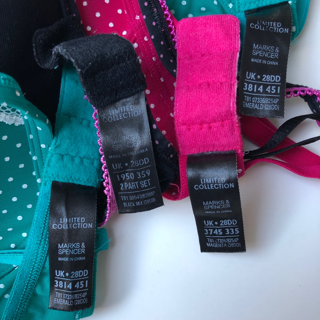 28DD UK size bras (1 - £5, 2 - £10, 3 - £15 or all 4 for £20) - Limited Collection from Marks & Spencer
