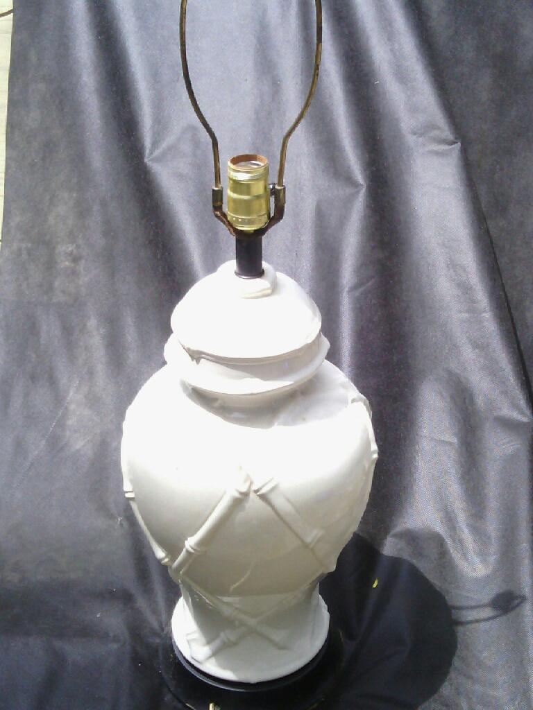 White Bamboo Lamp