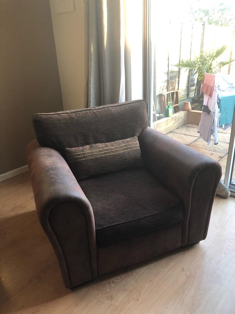 Large Single Sofa with bolster cushion