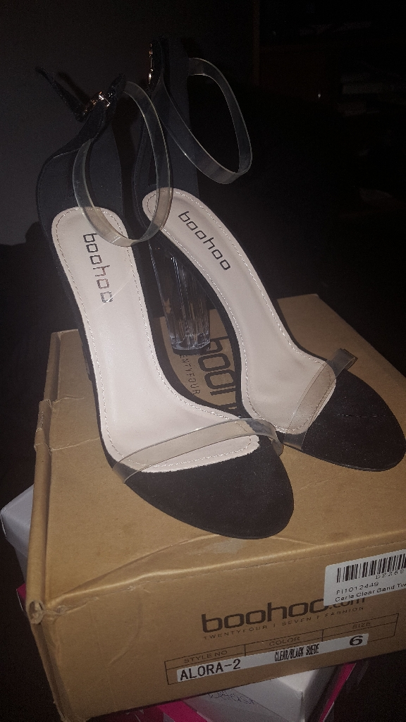 Clear Heels from boohoo.com (Size 6)