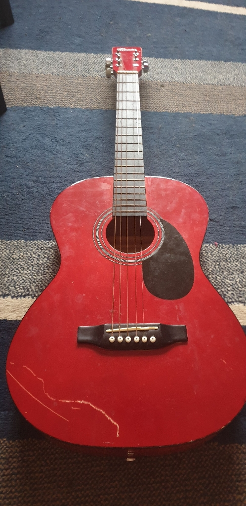 Red Charsley guitar junior