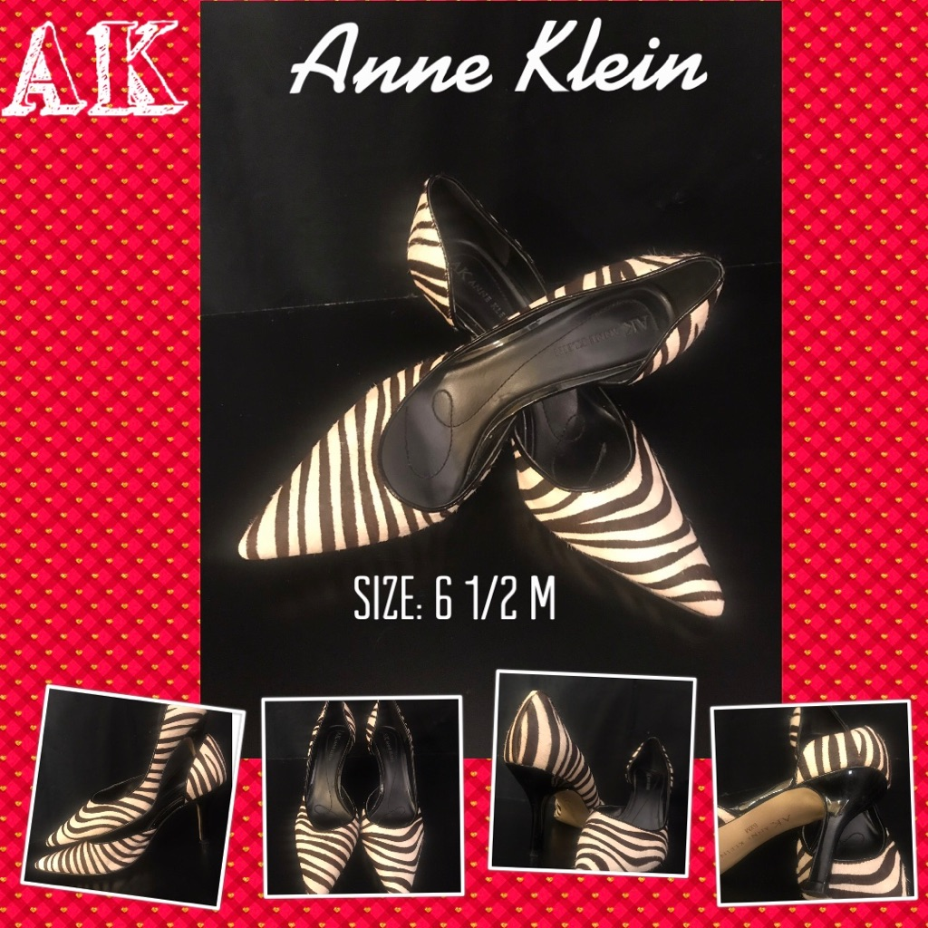Anne Klein Black and White High Heels Shoes