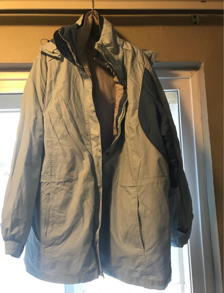 Men's lt blue and dk blue full zip jacket