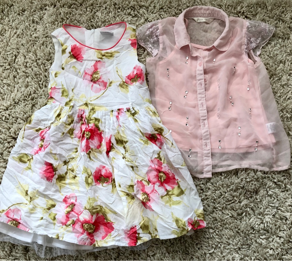 Girls summer dress and blouse with vest - 4 years old