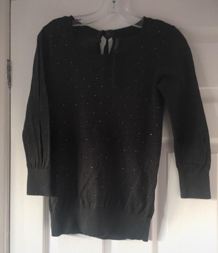 Ladies Diamanté's Jumper Size 8 Excellent Condition (postage available)