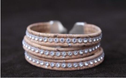 Stunning handmade cork bracelets