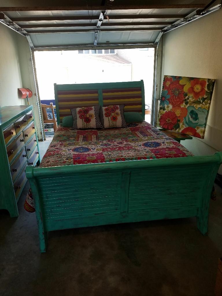Refinished bedroom suite